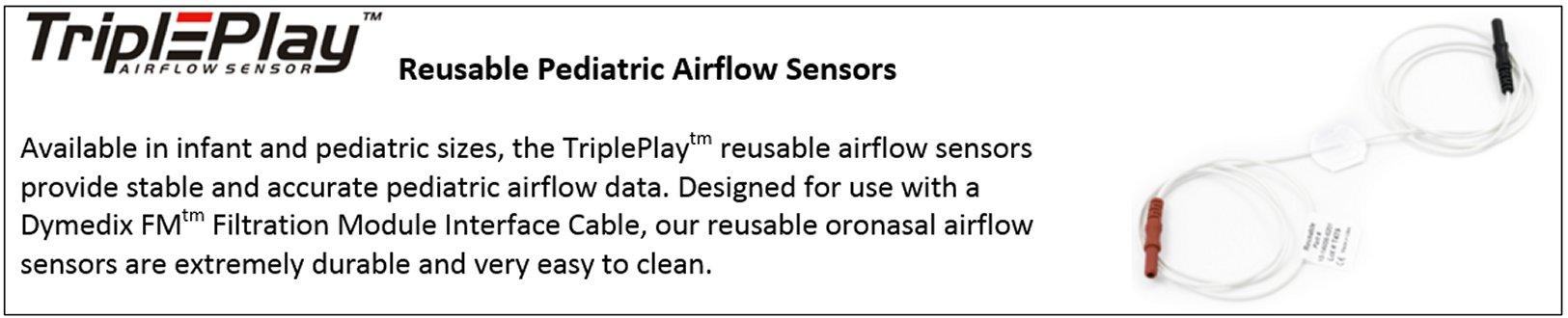 reusable pediatric airflow sensors